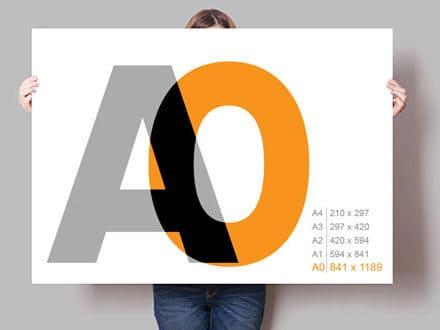 Плакат А0, 841 х 1189 мм
