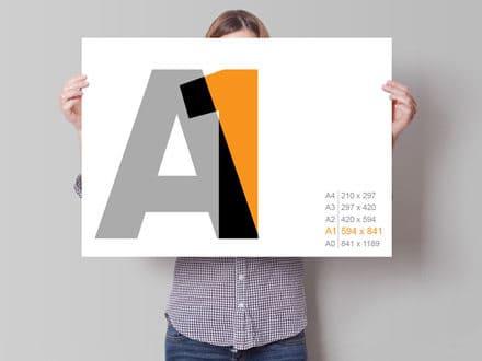 Плакат А1, 594 х 841 мм